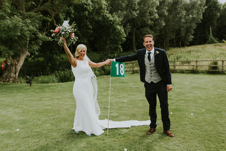 Golf Game Bride Groom Entertainment Rustic Greenery Dove Grey Country Barn Wedding http://jonnymp.com/