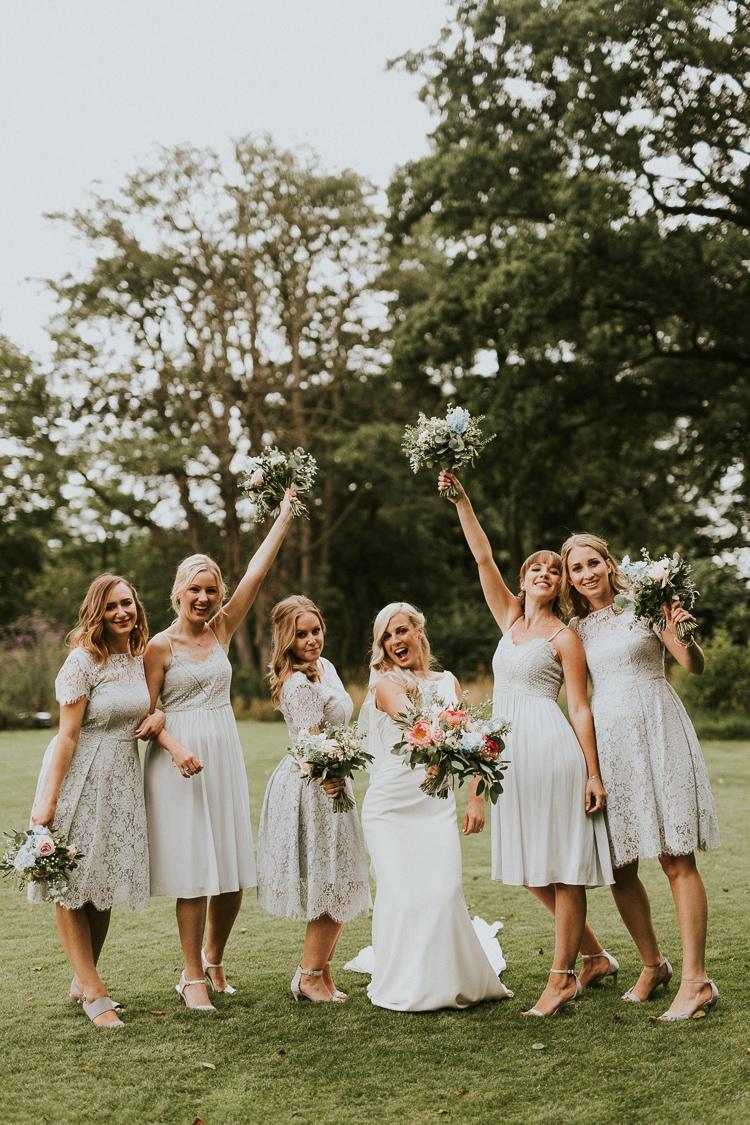 Bridesmaid Dresses Lace Rustic Greenery Dove Grey Country Barn Wedding http://jonnymp.com/