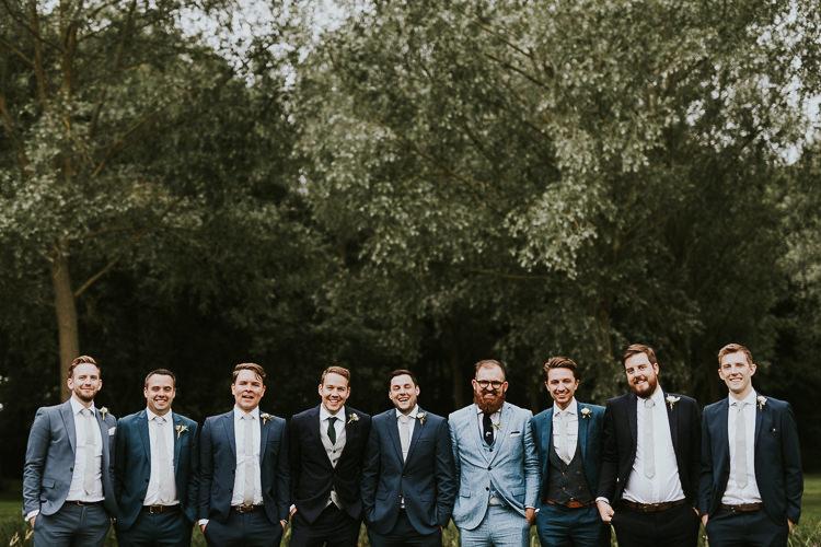 Mismatched Groom Groomsmen Rustic Greenery Dove Grey Country Barn Wedding http://jonnymp.com/