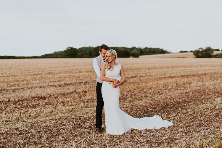Pronovias Dress Bride Bridal Gown High Neck Rustic Greenery Dove Grey Country Barn Wedding http://jonnymp.com/
