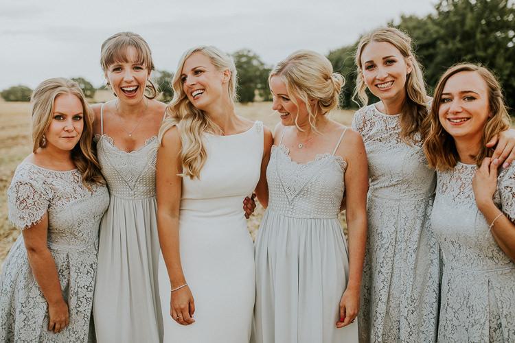 Lace Bridesmaid Dresses Rustic Greenery Dove Grey Country Barn Wedding http://jonnymp.com/