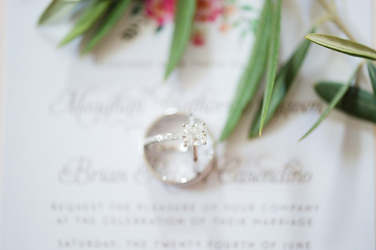 Rings Floral Stationery Bright Coral Garden Wedding New Jersey http://somethingbluenj.com/