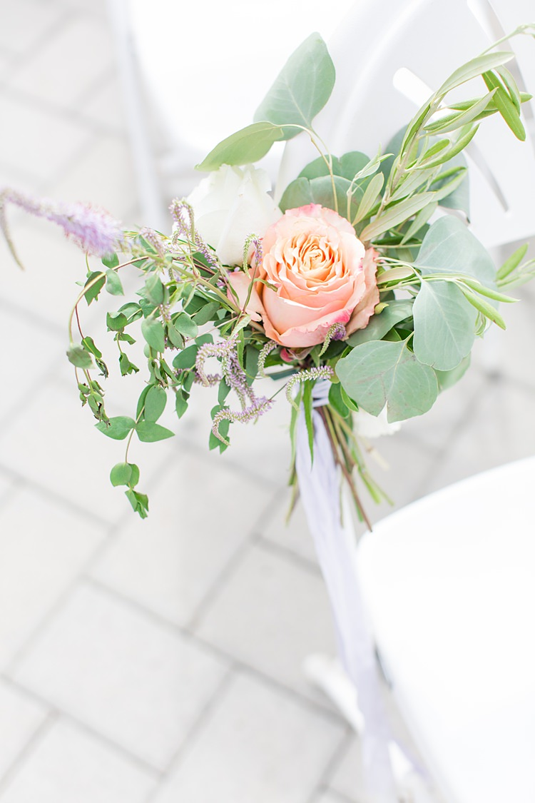 Aisle Decor Roses Greenery Bright Coral Garden Wedding New Jersey http://somethingbluenj.com/