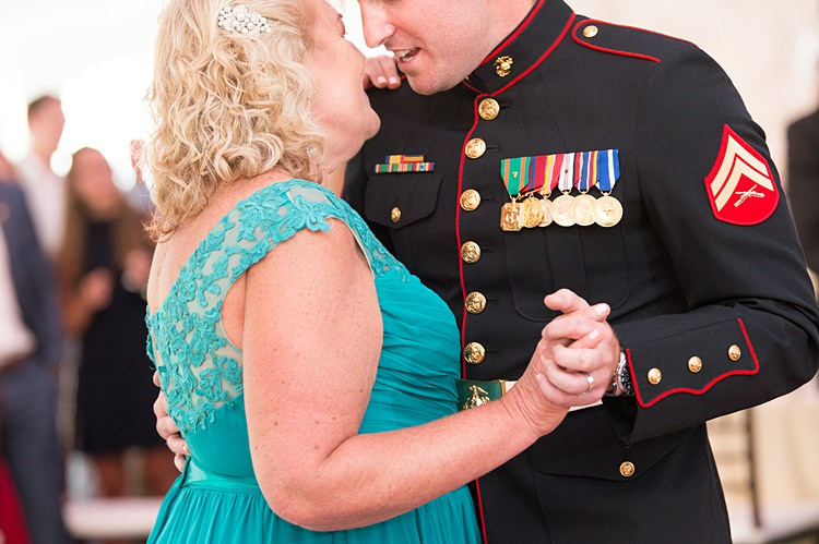 Groom Mother Dance Bright Coral Garden Wedding New Jersey http://somethingbluenj.com/