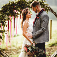Cosy Autumn Woodland Tipi Wedding Ideas http://hbaphotography.com/