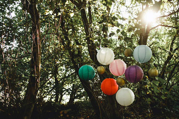 Hanging Lanterns Trees Cosy Autumn Woodland Tipi Wedding Ideas http://hbaphotography.com/