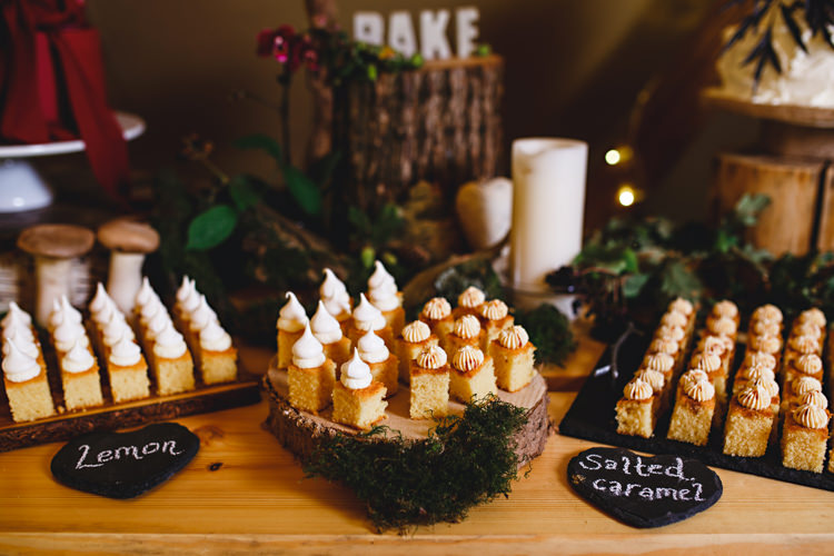 Cake Table Desserts Cosy Autumn Woodland Tipi Wedding Ideas http://hbaphotography.com/