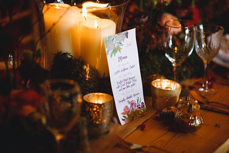 Candles Tables Rustic Decor Cosy Autumn Woodland Tipi Wedding Ideas http://hbaphotography.com/