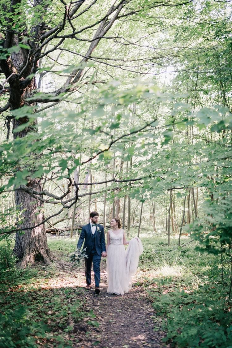 Forest Bride Groom Bow Tie Outdoorsy Modern Wedding in Wisconsin http://www.mcnielphotography.com/
