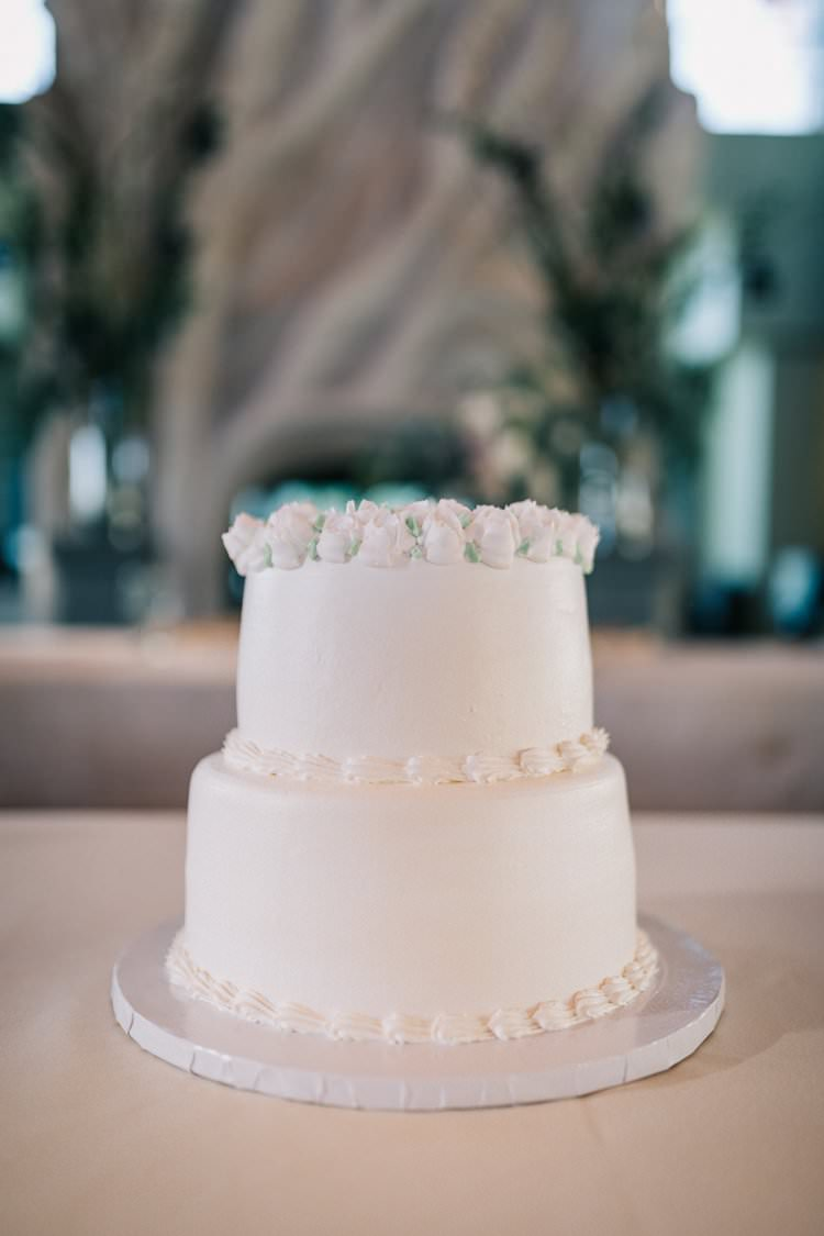 Cake Three Tier White Roses Classic Outdoorsy Modern Wedding in Wisconsin http://www.mcnielphotography.com/