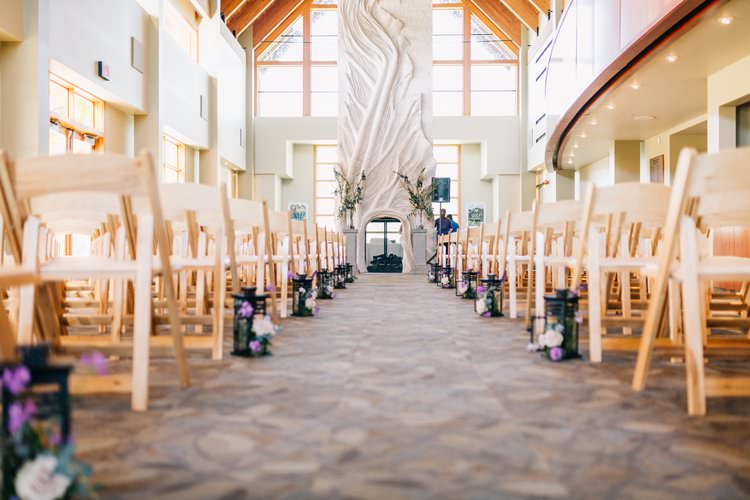 Ceremony Aisle Lanterns Outdoorsy Modern Wedding in Wisconsin http://www.mcnielphotography.com/