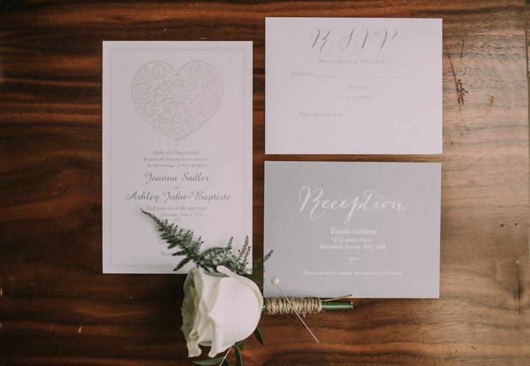 Grey Stationery Invitations Elegant White Marquee Lavender Fields Wedding http://natalyjphotography.com/