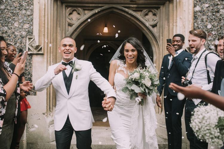 Confetti Throw Elegant White Marquee Lavender Fields Wedding http://natalyjphotography.com/