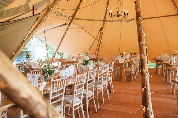 Tipi Fairy Lights Fresh Modern Countryside Outdoor Wedding https://www.nikkismoments.com/