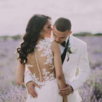 Elegant White Marquee Lavender Fields Wedding http://natalyjphotography.com/
