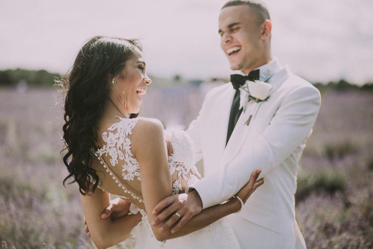 Elegant White Marquee Lavender Fields Wedding http://natalyjphotography.com/