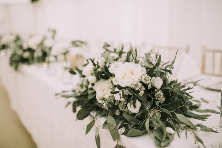 Flowers Decor Greenery Foliage Elegant White Marquee Lavender Fields Wedding http://natalyjphotography.com/