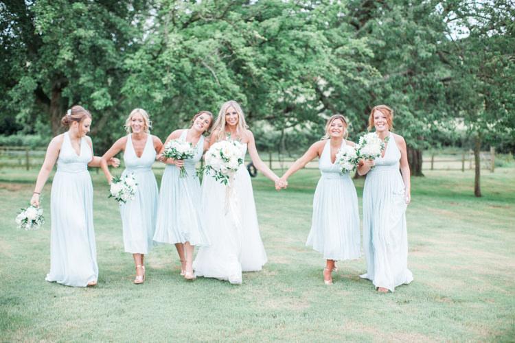 Open Back Mint Bridesmaid Dresses Long Short Fresh Modern Countryside Outdoor Wedding https://www.nikkismoments.com/