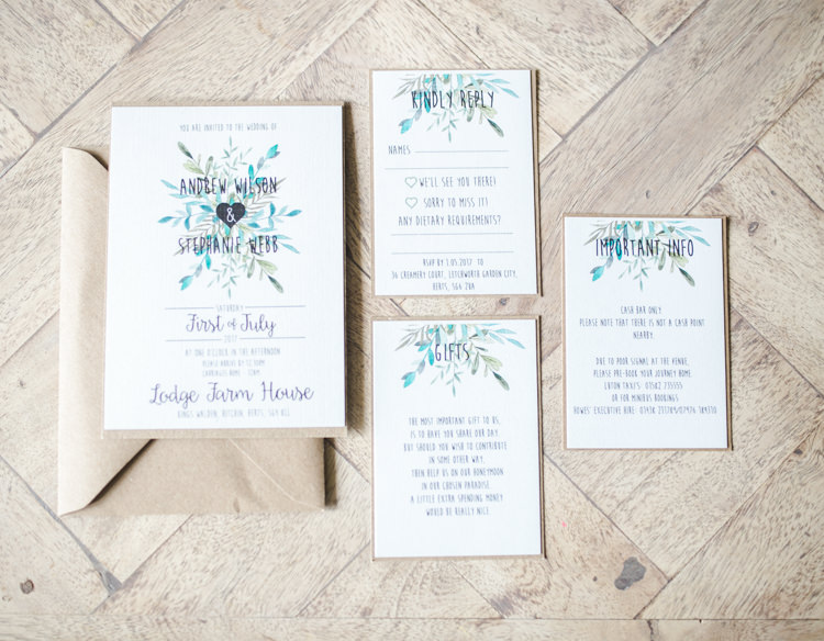 Floral Stationery Invites Invitations Fresh Modern Countryside Outdoor Wedding https://www.nikkismoments.com/