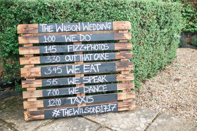 Wooden Pallet Sign Fresh Modern Countryside Outdoor Wedding https://www.nikkismoments.com/