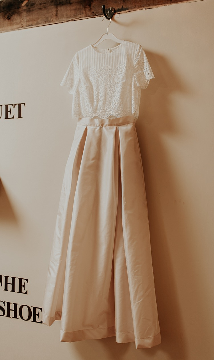Bridal Separates Skirt Top Bride Dress Gown Lace Beautiful Simple Relaxed Barn Wedding http://jenmarino.com/