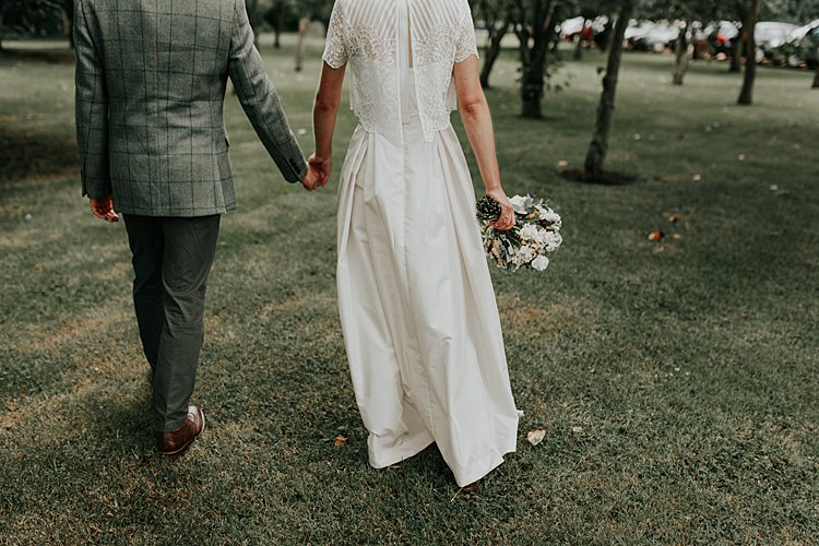 Bridal Separates Skirt Top Bride Dress Gown Beautiful Simple Relaxed Barn Wedding http://jenmarino.com/