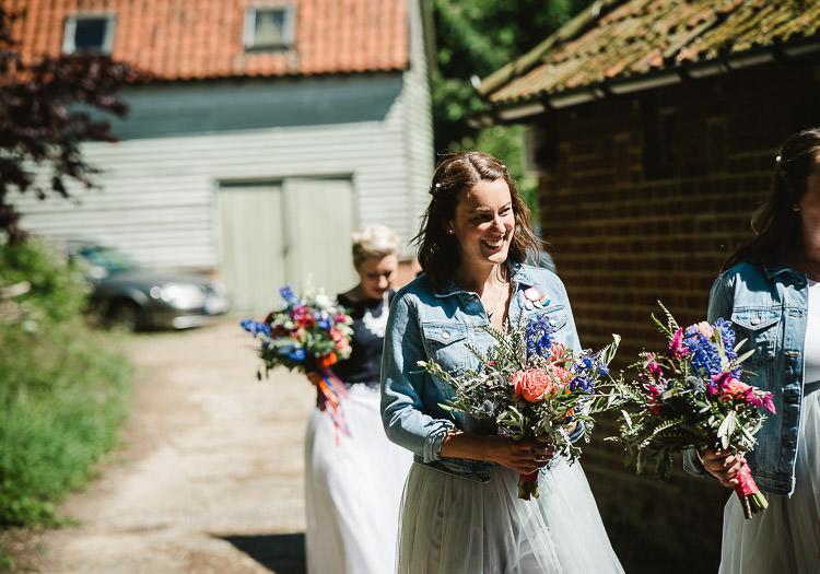 Denim Jackets Bridesmaids Super Cool Informal Party Wedding http://www.luisholden.com/