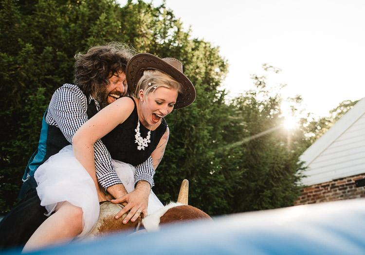 Rodeo Bull Super Cool Informal Party Wedding http://www.luisholden.com/