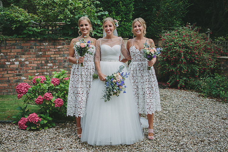 Bride Bridal Pronovias Gown Dress Sweetheart Princess Jacket Self-Portrait Bridesmaids Polka Dot Pretty Country Gin Wedding http://www.victoriasomersethowphotography.co.uk/
