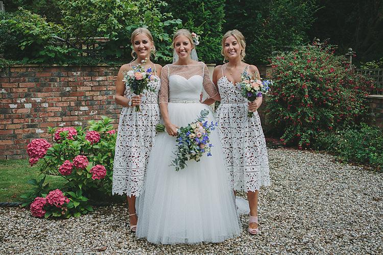 Bride Bridal Pronovias Gown Dress Sweetheart Princess Jacket Self-Portrait Bridesmaids Polka Dot Pretty Country Gin Wedding http://www.victoriasomersethowphotography.co.uk/