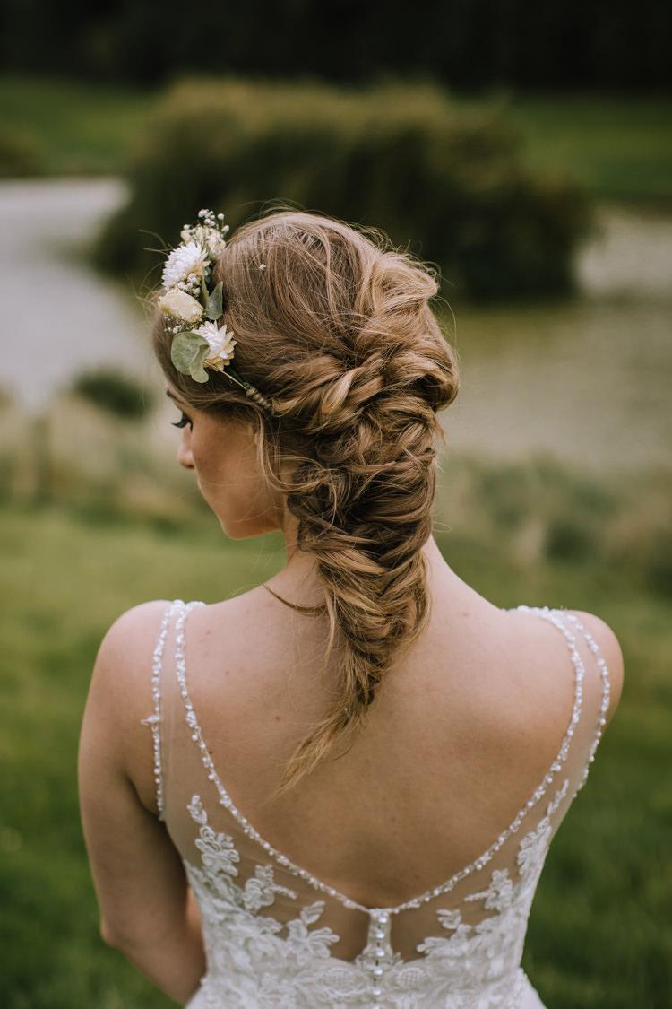 Hair Bride Bridal Style Up Do Braid Plait Flowers Edgy Seasonal Autumnal Tipi Wedding Ideas http://www.sambennettphotography.co.uk/