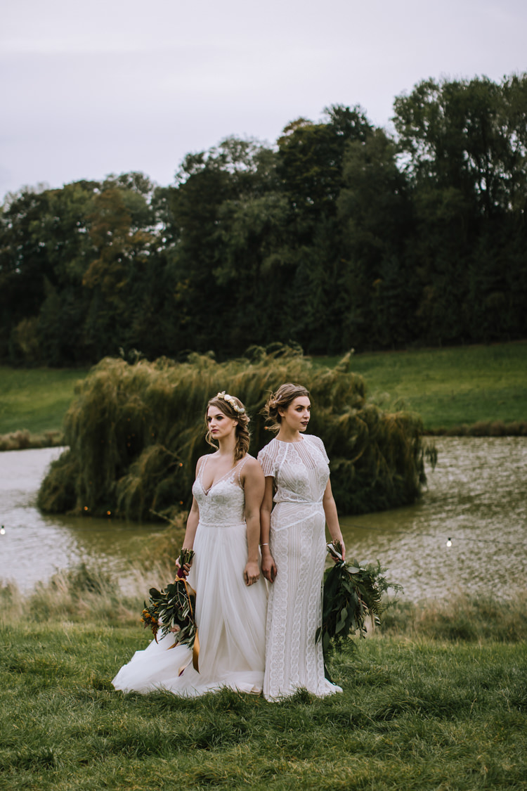 Edgy Seasonal Autumnal Tipi Wedding Ideas http://www.sambennettphotography.co.uk/