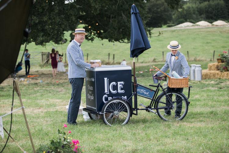 Ice Cream Cart Unique Country Farm Tipi Wedding http://www.nataliedphotography.com/