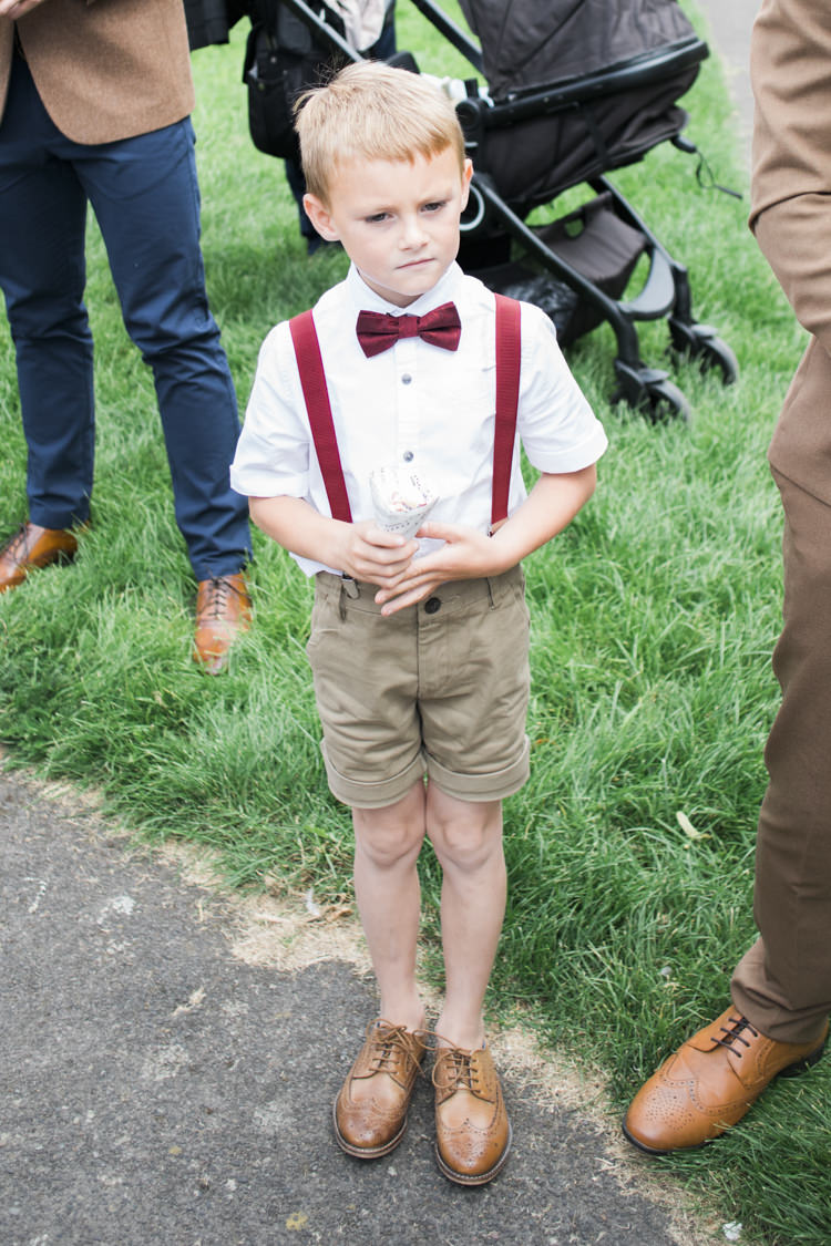 Page Boy Bow Tie Braces Shorts Unique Country Farm Tipi Wedding http://www.nataliedphotography.com/