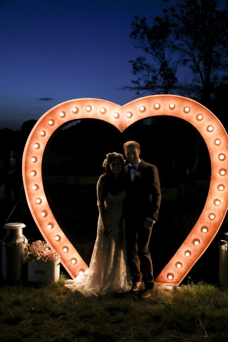 Heart Light Lighting Unique Country Farm Tipi Wedding http://www.nataliedphotography.com/