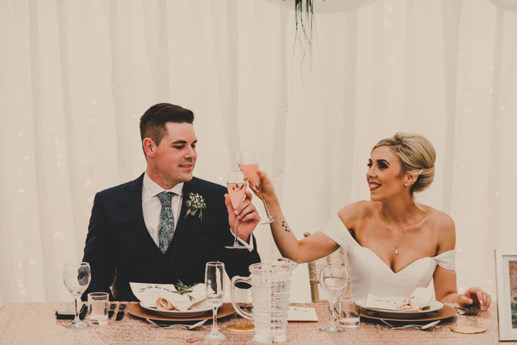 Rose Gold Sequins Greenery Musical Wedding https://www.jademaguirephotography.uk/