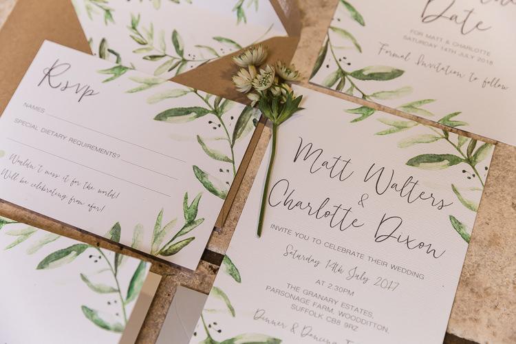 Stationery Botanical Calligraphy Wax Seal Envelope Invites Invitations Organic Rustic Greenery Wedding Ideas http://sarahbrookesphotography.com/