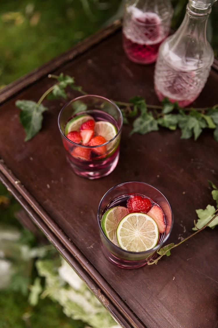Drinks Cocktails Organic Rustic Greenery Wedding Ideas http://sarahbrookesphotography.com/