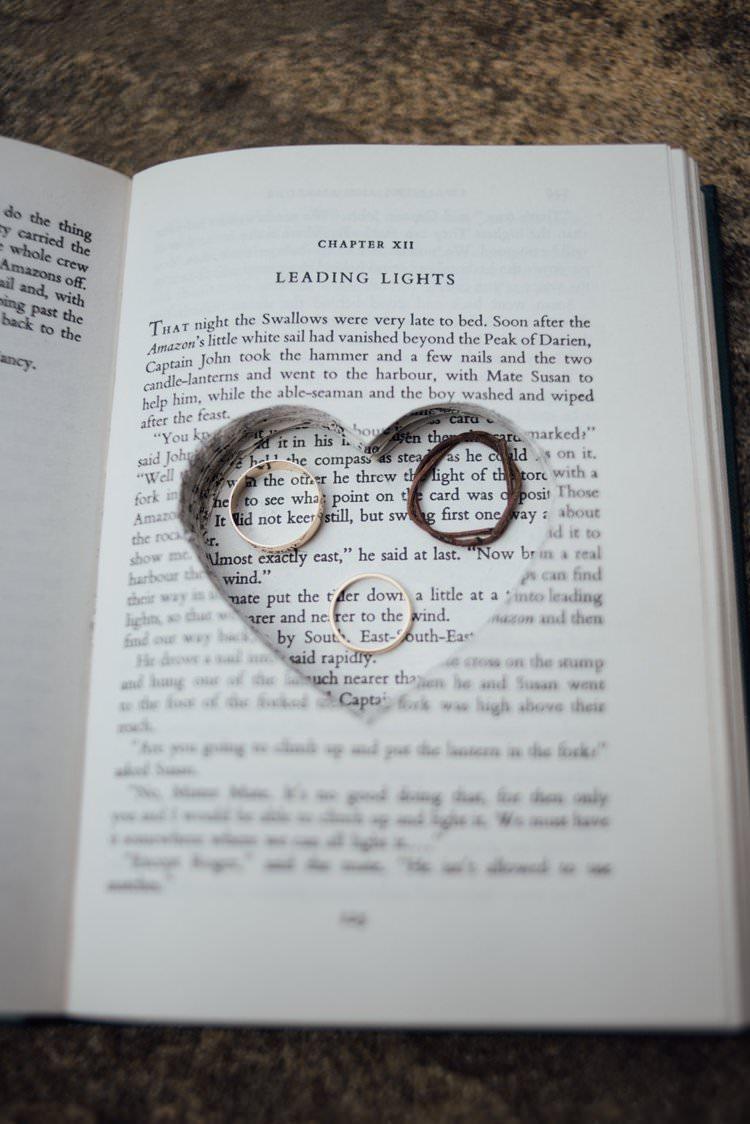 Ring Box Holder Book Cut Out Adventurous Festival Bohemian Wedding https://libertypearlphotography.com/