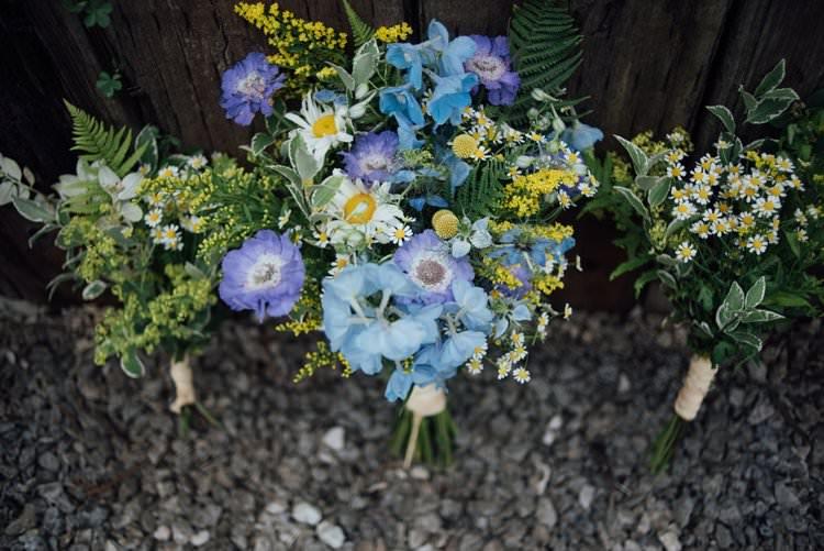 Bride Bridal Bouquet Wildflower Meadow Daisy Greenery Adventurous Festival Bohemian Wedding https://libertypearlphotography.com/
