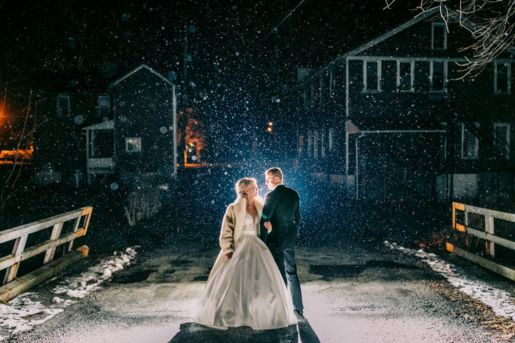 Winter Bride Groom Snow Outdoors Romantic Fur Coat | Festive Glamour Christmas New Years Eve Wedding http://www.stevendrayimages.com/