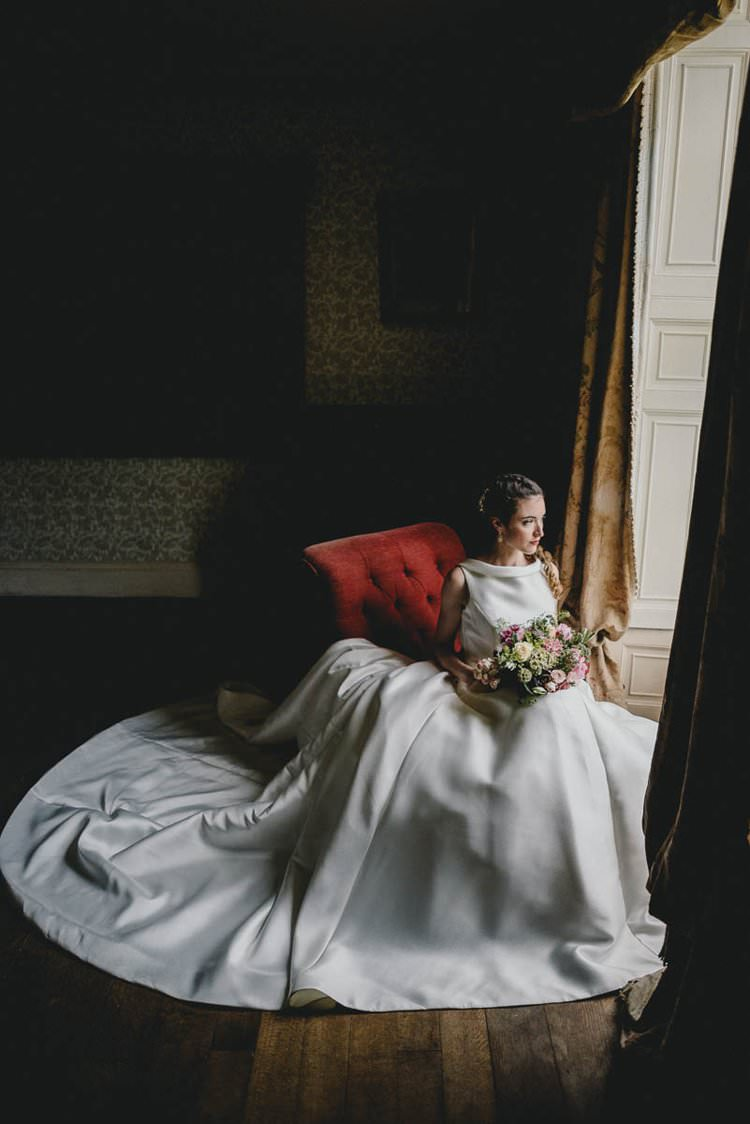 Dress Gown Bride Bridal Train Romantic Luxe Wedding Ideas in the Country http://benjaminmathers.co.uk/