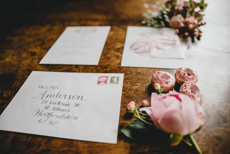Pink Gold Floral Stationery Invites Invitations Romantic Luxe Wedding Ideas in the Country http://benjaminmathers.co.uk/