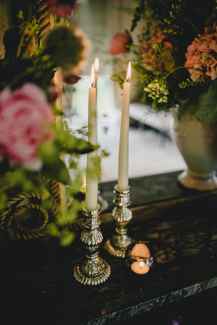 Candlesticks Romantic Luxe Wedding Ideas in the Country http://benjaminmathers.co.uk/