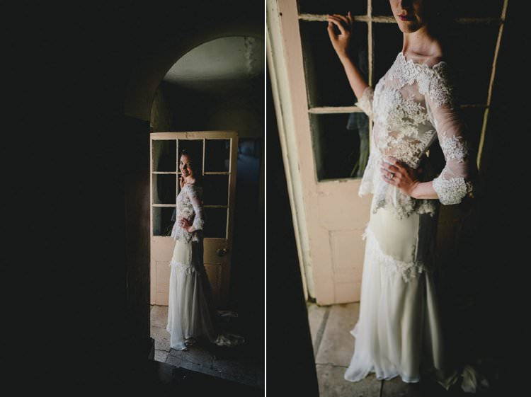 Dress Gown Bride Bridal Back Lace Top Romantic Luxe Wedding Ideas in the Country http://benjaminmathers.co.uk/