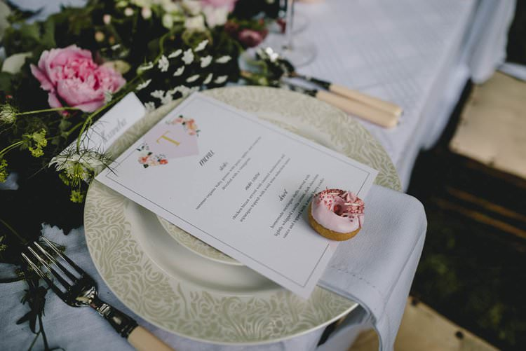Pink Gold Floral Stationery Invites Menu Romantic Luxe Wedding Ideas in the Country http://benjaminmathers.co.uk/