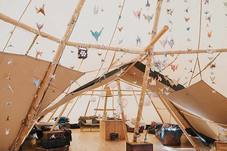 Origami Cranes Happy Crafty Summer Farm Wedding http://twigandvine.photography/