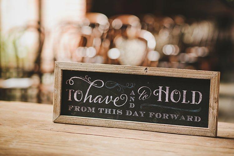 Rustic Sign Quote Untraditional Pretty Travel Barn Wedding https://www.georgimabee.com/