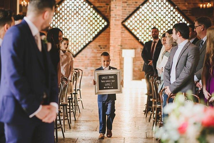 Page Boy Sign Untraditional Pretty Travel Barn Wedding https://www.georgimabee.com/