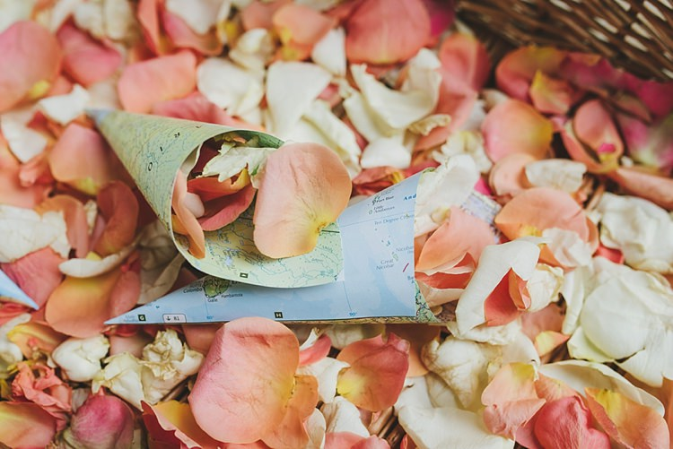 Confetti Cones Petals Untraditional Pretty Travel Barn Wedding https://www.georgimabee.com/